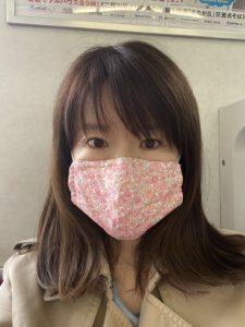 産後ヘルパーの手作り布マスク